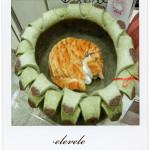 ウールフェルト製の手作り猫ベッド「エレベレ」